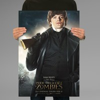 Poster Print Pride and Prejudice and Zombies Mr Darcy Wall Decor Canvas Print - halawatani.com