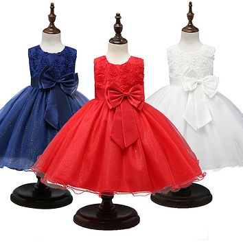 Princess Dress Girls Flower Ball Gown Wedding Party Baby Girl Clothes Kids New Year Dresses for Girls Christmas costumes 0-12yrs 1