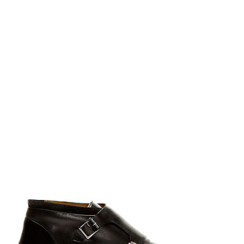 Paul Smith Black Leather Monk Strap Gill Shoes