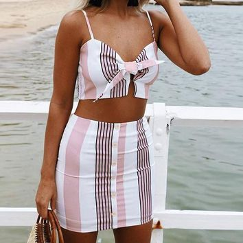 Shortcake Striped Two-Piece Dress