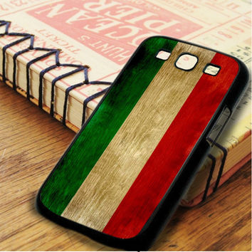 Vintage Italian Flag Wood Samsung Galaxy S3 Case