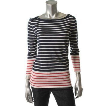 Vineyard Vines Womens Skipper Striped Boatneck Pullover Sweater