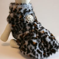Leopard Dog Coat, clothing, Jacket, Pets Dress, Birthday gift