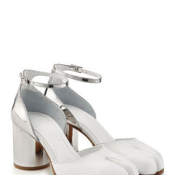 Split-Toe Leather Heels - Maison Margiela | WOMEN | US STYLEBOP.COM