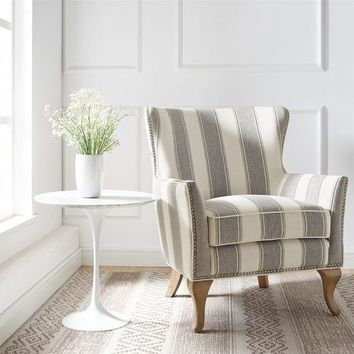 Uzi Gray Stripe Chair