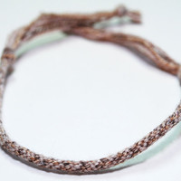 Kumihimo Bracelet Fibre Cotton Blend Rustic Earth Tones