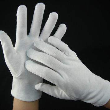 3 Pairs 1 Set  High Class Cotton Moisturizing Gloves, Cotton Beauty Gloves, Spa Moisture Gloves, White Cotton Spandex Gloves
