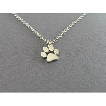 Jisensp New Chokers Necklace Tassut Cat and Dog Paw Print Animal Jewelry Women Pendant Cute Delicate Statement Necklaces N191