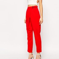 Lavish Alice D- Ring Peg Leg Trouser at asos.com
