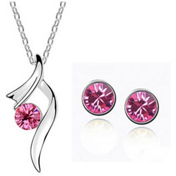 Ballerina Pink Necklace and Earring Set