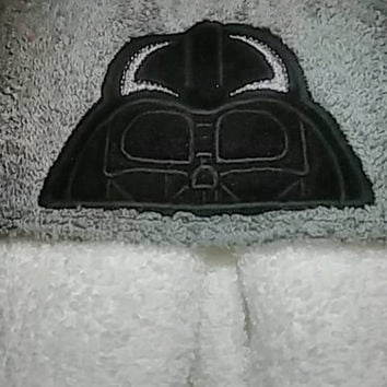 Star Wars Darth Vader Hooded Towel Star Wars Gift For Kids Baby or Child Gift Personalized Hooded Towels Teen or Adult Hooded Towel Custom