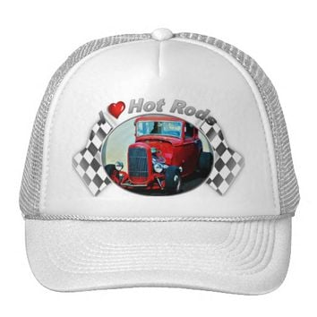 I Heart Hot Rods Trucker Hat