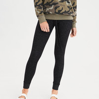 AEO Plush Fleece Sweater Legging, Charcoal