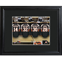 NHL Locker Room Print in Wood Frame - Flyers