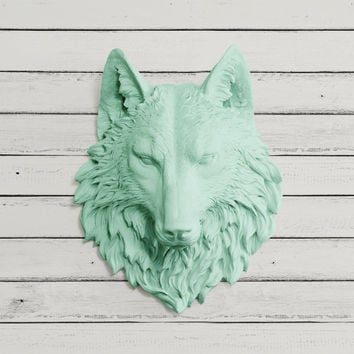 The Sierra Faux Wolf Head