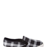FOREVER 21 Plaid Canvas Slip-Ons