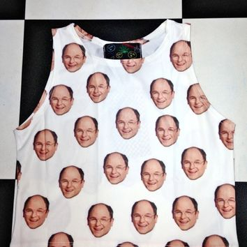 SWEET LORD O'MIGHTY! GEORGE COSTANZA CROP TANK