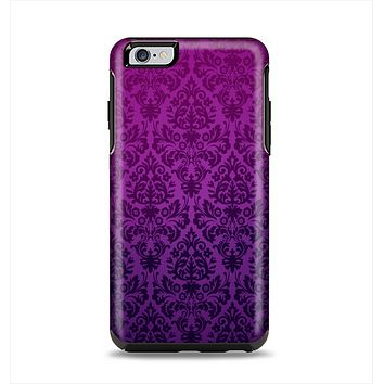 The Purple Delicate Foliage Pattern Apple iPhone 6 Plus Otterbox Symmetry Case Skin Set
