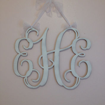 Wood Monogram Wall Decor home decor, large wooden monogram, wall from customcutmonograms