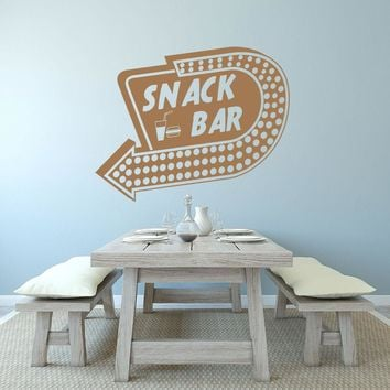 Snack Bar Wall Decal