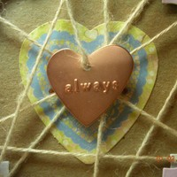 Valentine Always Copper Heart Hand Woven Card