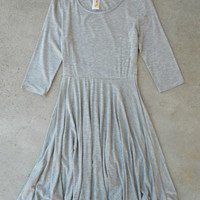 Basic Day Skater Dress in Gray [6567] - $34.00 : Feminine, Bohemian, & Vintage Inspired Clothing at Affordable Prices, deloom