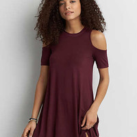 AEO Cold Shoulder Dress, Burgundy