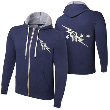 CM Punk Vintage Lightweight Full Zip Navy Sweatshirt