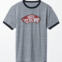 Vans Off The Wall Ringer T-Shirt - Mens Tee - Grey