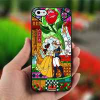Beauty and Beast glass - photo on hard cover for iphone 4/4S