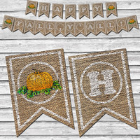 Burlap Happy Fall Y'all Pumpkin Banner – Printable Home Decor –  Autumn Pumpkin Decoration – Southern Fall Banner - INSTANT DOWNLOAD