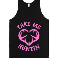 Take Me Huntin'-Unisex Black Tank