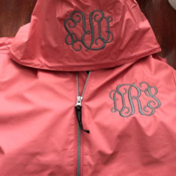 Youth Monogrammed Charles River Pullover rain coat