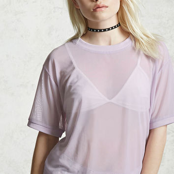 Contemporary Mesh Knit Top