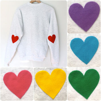Elbow Heart Sweatshirt  multi colors by MFjewels on Etsy