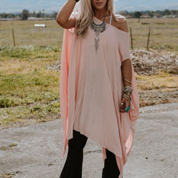The Wren Oversized Tunic Top - Pink