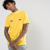 Ellesse T-Shirt With Logo High Neck In Yellow at asos.com