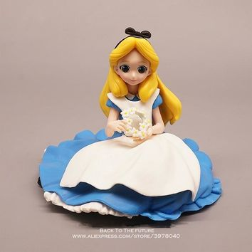 Disney Alice in Wonderland princess 11cm Action Figure Model Anime Mini Decoration PVC Collection Figurine Toy model children