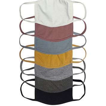 RESTOCKED! REUSABLE CLOTH FACE MASK (MORE COLORS) (PRE-ORDER)