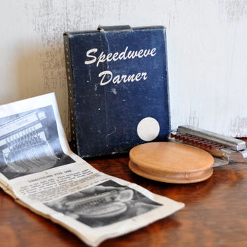 Vintage Speedweve Darner, Repair Silk Wool and Linen Socks and Stockings, with Instructions