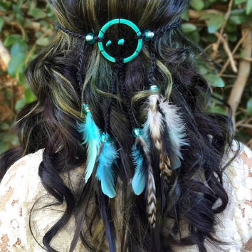 Aqua Dreamcatcher Headband #A1023