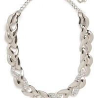 Silver Ice Braid Collar - Necklaces - All Jewelry