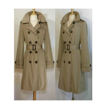 Women's Coat, trench coat, raincoat, winter coat, long coat, outdoor, overcoat, Calvin Klein
