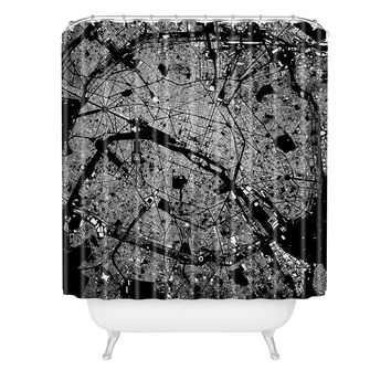 CityFabric Inc Paris Black Shower Curtain