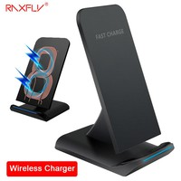 RAXFLY QI Wireless Charger For iPhone X Smart IC Wireless Fast Charger Phone Holder For iPhone 8 8 Plus Holder Case