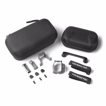 Portable 9 in 1 for DJI for Mavic Pro Quadcopter Drone Waterproof EVA Bag Hard Case Camera Lens Holder & Other Accessories