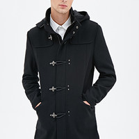 Hooded Duffel Coat Black