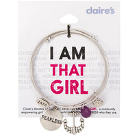 I Am That Girl Fearless Bangle Charm Bracelets Set of 3