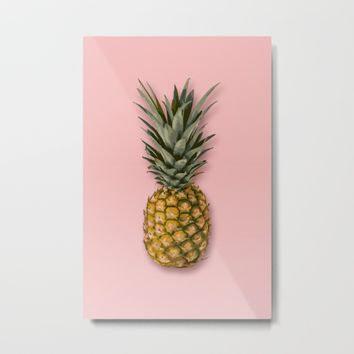 Pineapple Metal Print by Marta Li