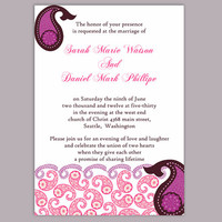 DIY Bollywood Wedding Invitation Template Editable Word File Download Printable Purple Eggplant Invitation Indian Invitation Bollywood party